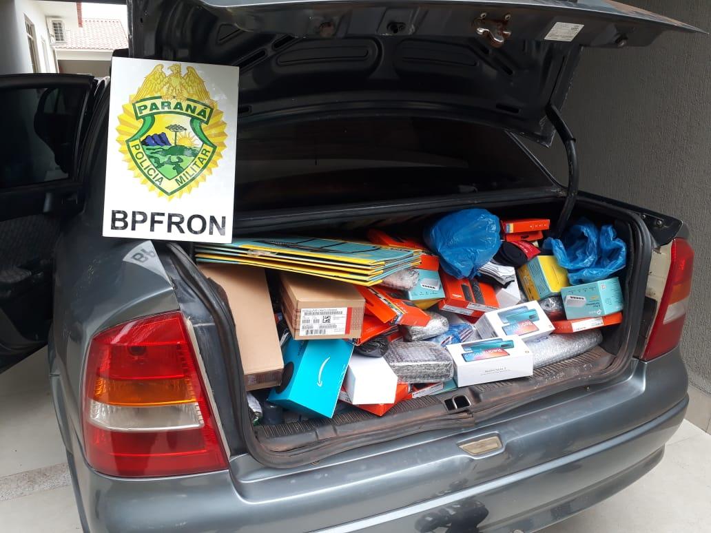 Carros lotados de contrabando do Paraguai são apreendidos  em Umuarama