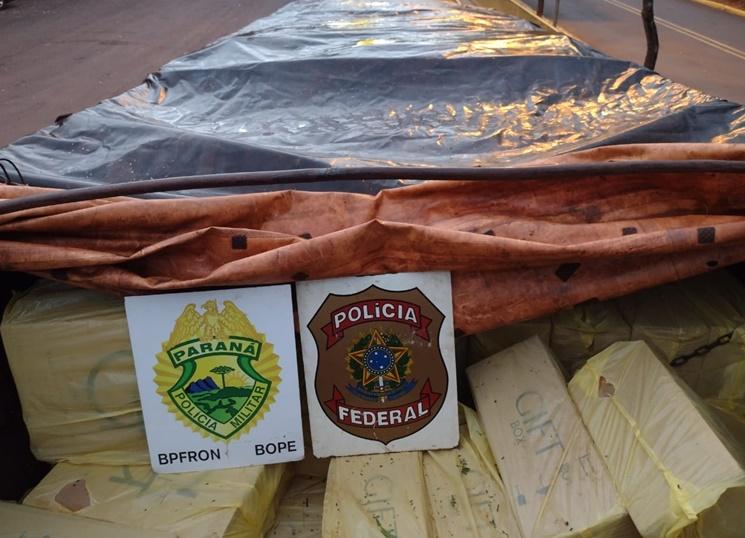 Francisco Alves: 500 caixas de cigarros contrabandeados são apreendidas
