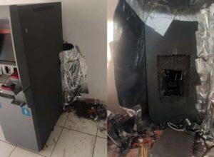 Bandidos invadem agência bancária em Maria Helena e danificam caixa eletrônico