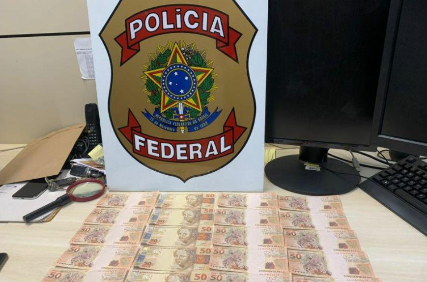 Polícia Federal apreende R$ 1 mil em notas falsas e prende suspeito na região