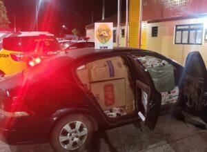 Após perseguição, PM apreende veículo carregado com cigarros em Umuarama