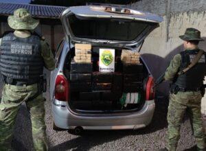 Homem é preso em Altônia retirando carga de maconha de carro após pneu furar